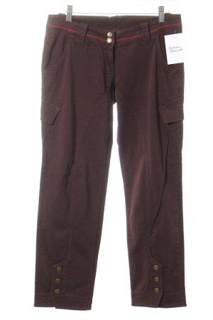 Guru Pantalon cargo brun foncé style décontracté