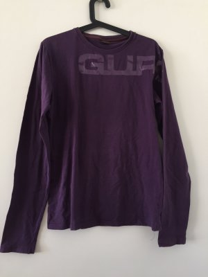 Guru Turtleneck Shirt dark violet cotton