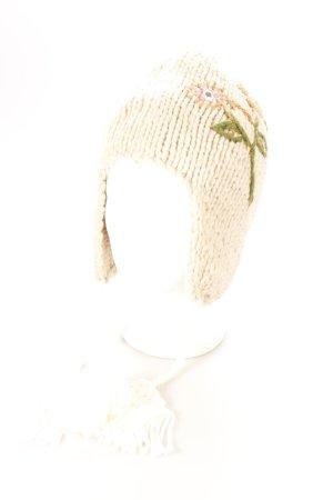 Guru Strickmütze florales Muster Boho-Look