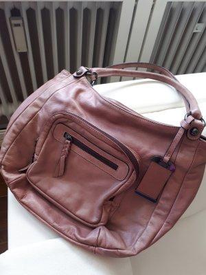 abro Shoulder Bag dusky pink leather
