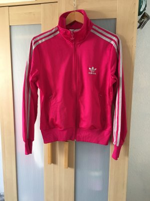 Adidas Sports Jacket neon pink-silver-colored