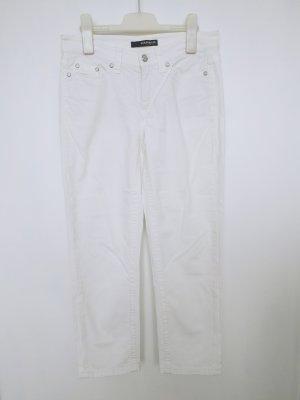 Cambio Jeans 7/8-broek wit-zilver