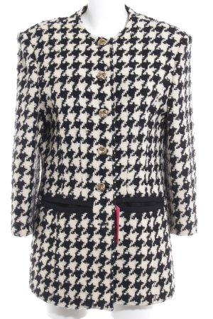 Guy Laroche Gebreide blazer zwart-wit pied-de-poule patroon klassieke stijl