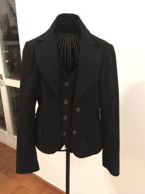 Guy Rover Tweed blazer zwart