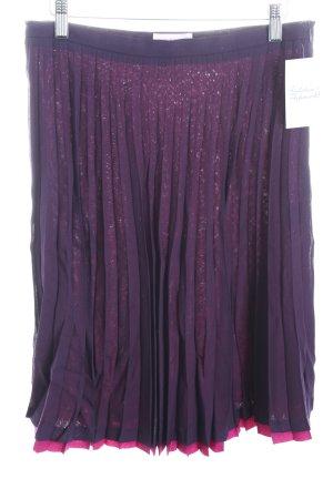 Guy Rover Plisseerock dunkelviolett-violett Eleganz-Look
