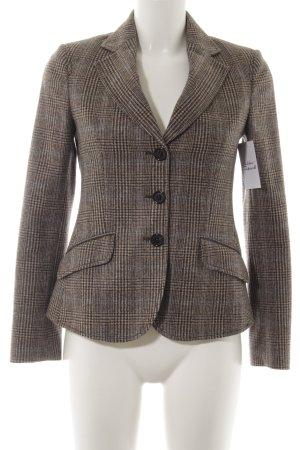 Guy Rover Tweed blazer beige-donkerbruin glencheck patroon zakelijke stijl