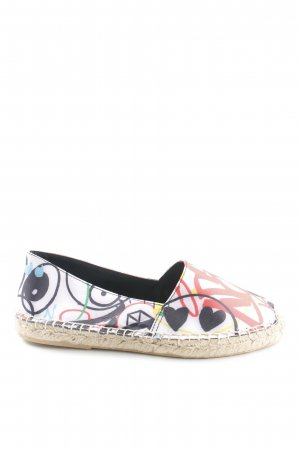 Gwen Stefani Espadrille sandalen wolwit-rood abstracte print casual uitstraling