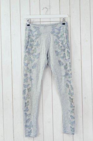 GWYNEDDS Damen Jogginghose Grau Bedruckt Schmetterling Baumwollgemisch Gr.XS