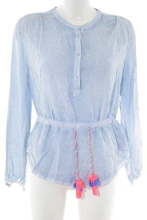 gwynedds Langarm-Bluse blau Casual-Look
