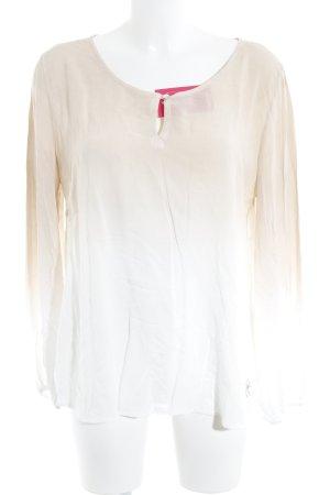 gwynedds Langarm-Bluse weiß-beige Farbverlauf Casual-Look