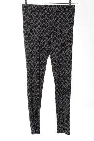 gwynedds Leggings negro-gris claro estampado repetido sobre toda la superficie