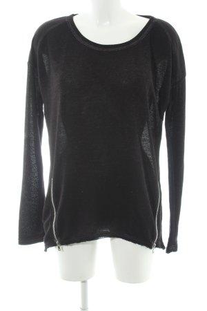 gwynedds Longshirt schwarz-silberfarben Casual-Look
