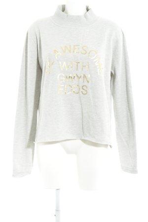 gwynedds Oversized Pullover hellgrau-goldfarben Casual-Look