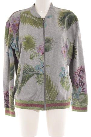 gwynedds Rundhalspullover florales Muster sportlicher Stil