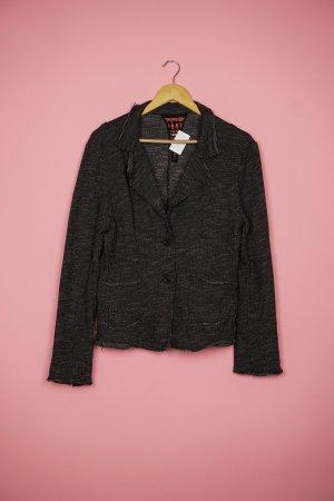gwynedds Knitted Blazer anthracite-dark grey cotton