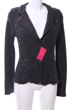 gwynedds Knitted Blazer light grey flecked casual look