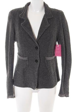 gwynedds Knitted Blazer black-grey graphic pattern fluffy