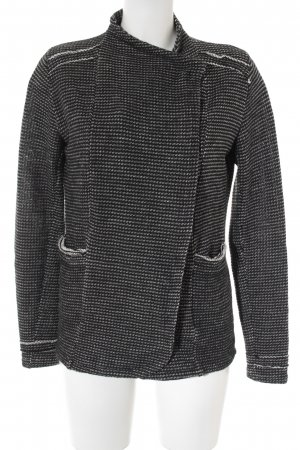 gwynedds Cardigan white-black flecked casual look