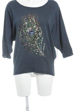gwynedds T-Shirt dunkelblau Casual-Look
