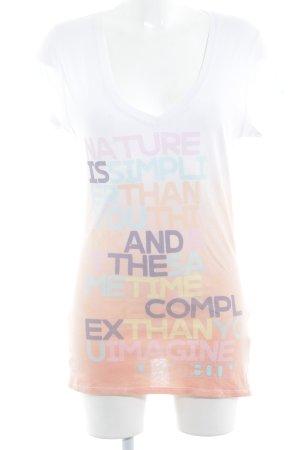 gwynedds T-Shirt weiß-apricot Farbverlauf Casual-Look