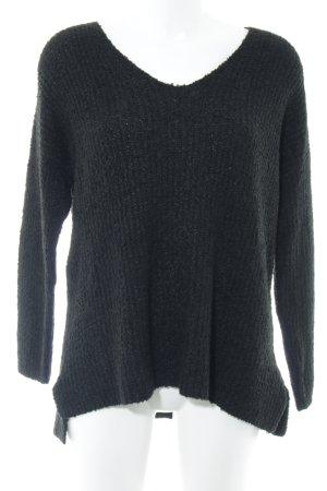 gwynedds V-Ausschnitt-Pullover schwarz Casual-Look