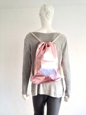 Gym Bag Rucksack Rosa Metallic Optik New