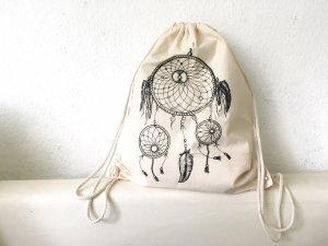 Canvas Bag oatmeal-black