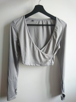 Gymshark Ballet Crop Top Grey Grau