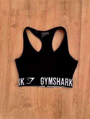 GYMSHARK Sporttop zwart-wit