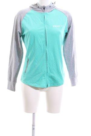 GYMSHARK Shirt Jacket turquoise-light grey athletic style