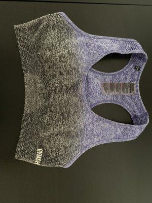 Sporttop donkergrijs-paars