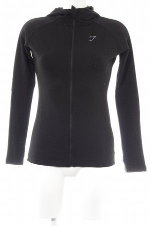 GYMSHARK Giacca fitness nero-grigio chiaro stile casual