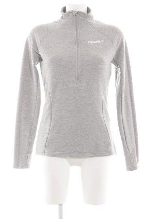 GYMSHARK Sweat Shirt light grey flecked athletic style