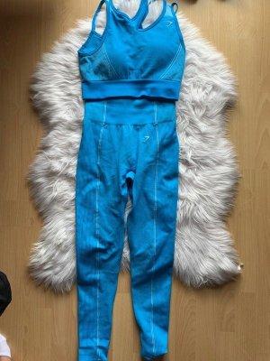 GYMSHARK pantalonera azul neón-azul