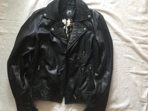 Gypsi-Damen-Bikerlederjacke, GR.XS, schwarz