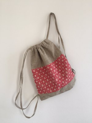 Pouch Bag multicolored linen