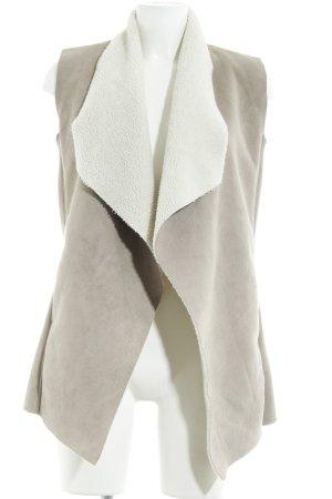 Gypsy Smanicato in ecopelliccia marrone-grigio-bianco sporco Stile Boho