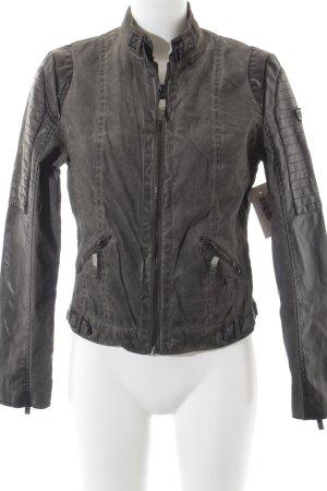 Gypsy Übergangsjacke schwarz-graugrün Patchwork-Optik