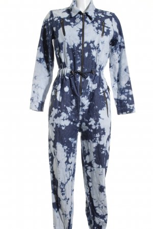 H! by Henry Holland Jumpsuit blassblau-graublau Camouflagemuster Military-Look
