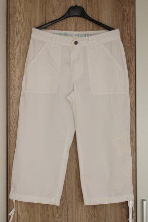 H.I.S Jeans Capri-Hose kurze Hose weiß knielang wadenlang S/M 38