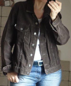 H.I.S. Jeansjacke, Original, aus braunem Schnürlsamt, Fein Cord, Jeanswear, 100% Baumwolle, bester Zustand, weiches, angenehmes Material, zeitlos, lässig, Gr. XL oder oversize bei Gr. M/L