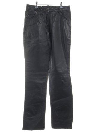 H.I.S Leren broek zwart extravagante stijl