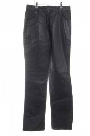 H.I.S Leather Trousers black extravagant style