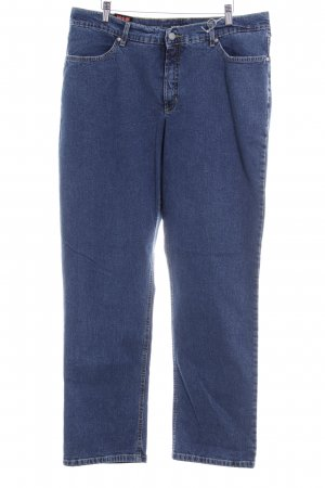 H.I.S Straight-Leg Jeans dunkelblau-blassblau Casual-Look