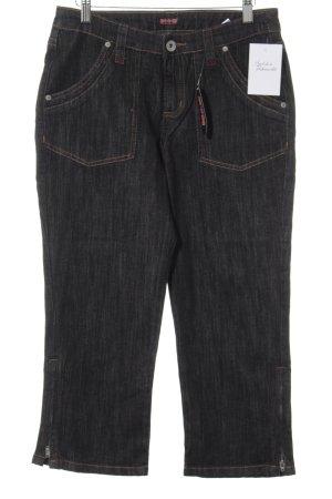 H.I.S Straight-Leg Jeans dunkelblau-camel Boyfriend-Look