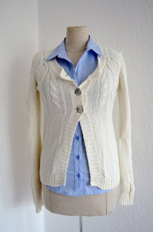 H&M 100% Cotton Strickjacke Weiss