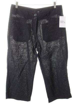 H&M 3/4-Hose schwarz meliert Segel-Look