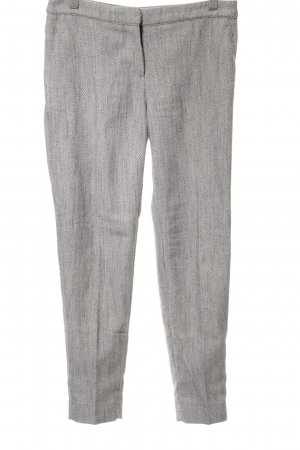 H&M 7/8 Length Trousers light grey flecked simple style