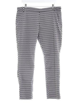 H&M 7/8-Hose schwarz-weiß Allover-Druck Business-Look