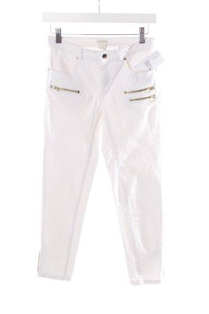 H&M 7/8-Hose weiß Zierreißverschluss